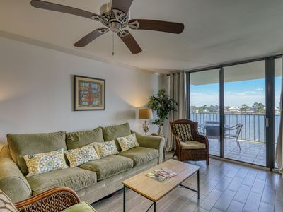 Photo for NEW LISTING! Waterfront condo w/ a view, shared pool - near marina