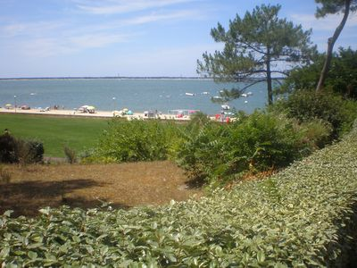 Photo for Spacious T2 + garden - Residence standing in front of sea (Arcachon / Moulleau)