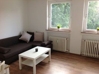 Photo for Quiet apartment with balcony and fantastic view into the Weserbergland