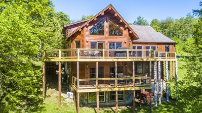Photo for Dog friendly chalet with private pool & fitness room!