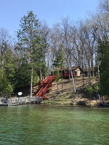 Lakefront Cottage on a Beautiful 80-Acre All Sports Harper Lake ~ Irons Michigan