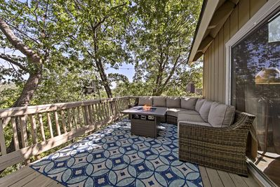 Enjoy mornings on the back deck of this Lake Arrowhead! vacation rental home!