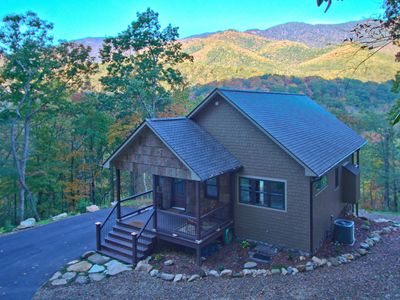 Photo for Mitchell View Cottage - Luxury cabin with stunning view of Black Mountains!