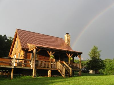 Photo for Romantic Mt. Get-away~ 'Sunset cabin' has spectacular Mountain & Sunset views!