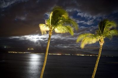 Nighttime view from the lanai