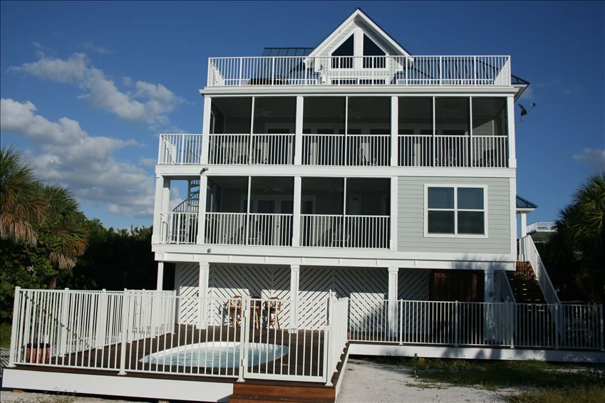 Captiva Beach Sunset Gulf Front 5 Br With Pool 3 Golf Carts Ncic