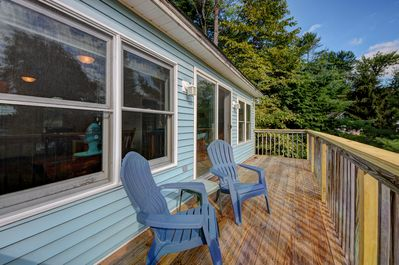 Enjoy the water while hanging out on the deck