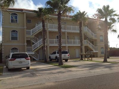 Photo for Second floor condo, 1/2 block to the beach. Sleeps 6, 2 bedrooms, 2 baths.Shared Pool &Pet-friendly.