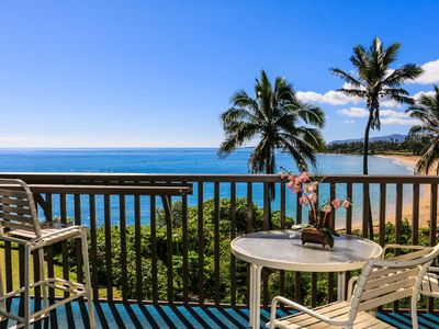 Photo for Kauai Vacation Rental Deluxe Oceanfront Wailua Bay View One Bedroom Condo