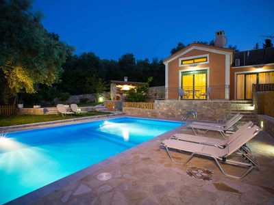 Photo for Villa Foteini - FREE CAR HIRE! Stunning hillside views with pool, Wi-Fi & A/C
