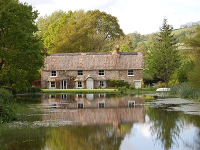 Photo for Thatched Cottage In Farway, Over Looking Pond And Wildlife Garden