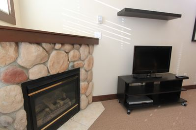 Gas Fireplace and Cable TV