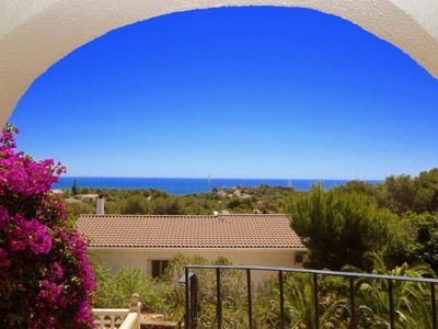Photo for Villa with sea view and pool 15 minutes walk from the beach