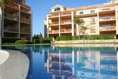 View of the Apartment from the Pool & Gardens
