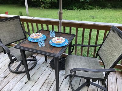 Enjoy a meal on the deck