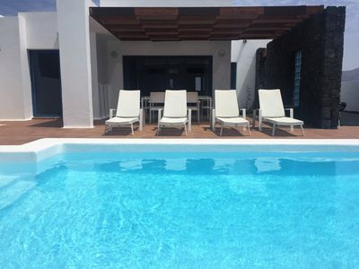 Photo for Modern villa with private heated pool, air conditioning, etc.