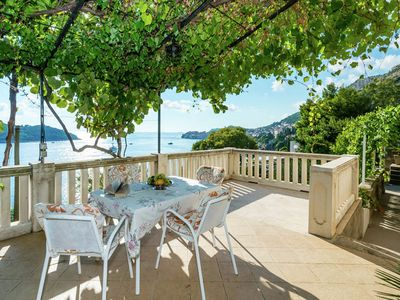 Photo for Authentic unit overlooking Dubrovnik old town and Lokrum island, private terrace