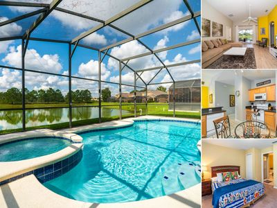 Photo for Single Level Pool Home With Spa Overlooks Pond With Stunning Sunsets - Close to Attractions