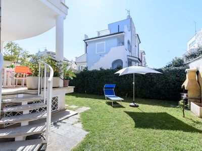 Photo for Cozy villa 100 metres from the sandy beach 12sleep with garden and barbecue