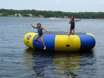 Water Trampoline provided mid May through late September.