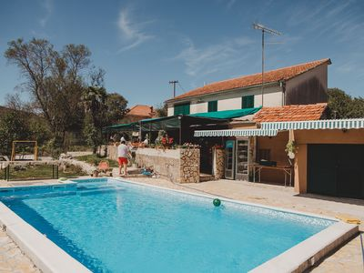 Photo for Rural vacation house with pool in Šibenik countryside