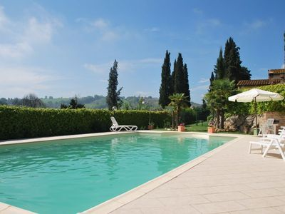 Photo for Villa with private pool and two bedroom San Gimignano   Il Vecchio Fienile is a beautiful detached house