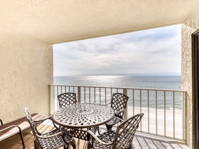 Photo for Stunning beachfront condo w/ beach access, shared pool, & private balcony!