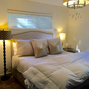 professionally decorated master bedroom! The  perfect retreat!