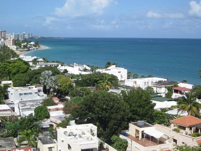 Beautiful morning view of Ocean Park and Condado