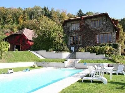 Photo for mas a mountain with large pool, park, quiet, views