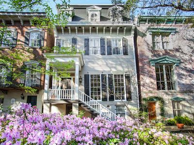 Photo for Stay with Lucky Savannah: Large home on beautiful Jones Street that sleeps 12