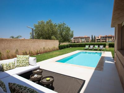 Photo for 3 Beds 2.5 Baths Villa with Private Pool on a Golf Course Downtown Marrakech