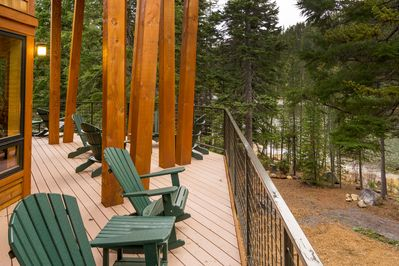 Relax in a rocker, view to Tumalo Lake