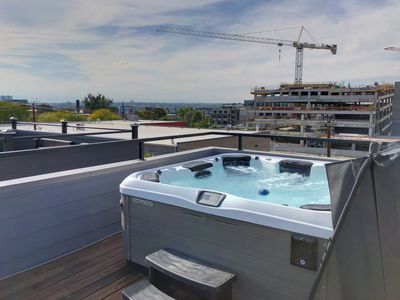 Photo for Rooftop hot tub in RiNo!