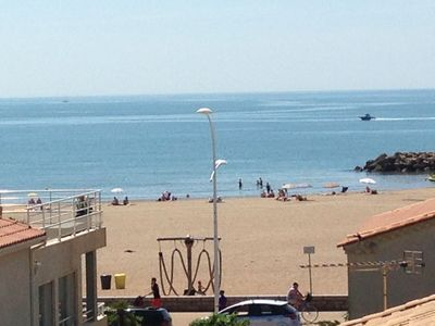 Photo for 50m from the beach, large terrace sea view, WIFI Garage Penthouse