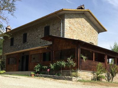 Photo for Old stone farmhouse located in a panoramic position about 5 km from Mercatale, in the Val di Pierle.