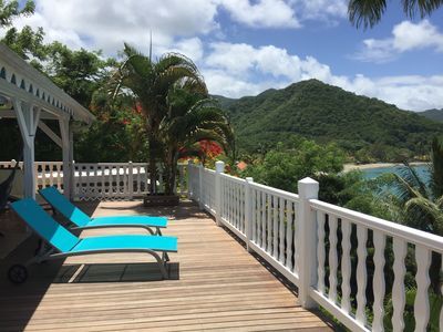 Photo for Exceptional villa overlooking Grande Anse, access to the sea, private pontoon