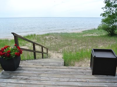 Photo for The Pond Cottage - Beach Front on Beautiful Lake Michigan