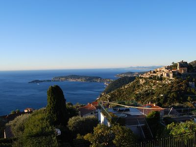 Photo for Stunning Penthouse with panoramic views of Eze Village and the French Riviera
