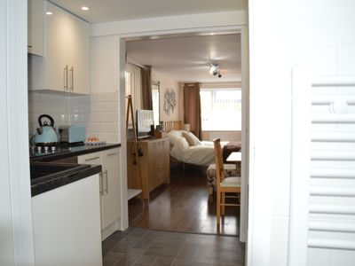 Photo for Hartsdown Hive with kitchen, bathroom, garden and parking.