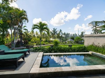 Photo for 2 BR Villa with private pool surrounded by rice fields