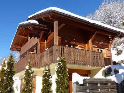 Photo for Traditional modern chalet, 5 double bedrooms sunny location with beautiful views