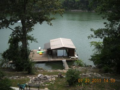 Photo for Cabin on the Lake with Floating Dock