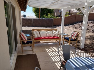 Back Patio with access to Large Backyard