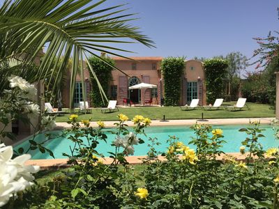 Photo for Luxury villa with private pool 4ch to 10 minutes of Amelkis golf courses, Royal, Almad