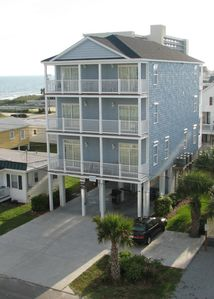 Photo for Spacious 8 BR 7 Bath Beach House, 6 Balconies, Own Pool/Spa, 2 Min Walk to Beach