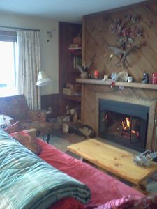 Bolton Valley 2 Bedroom, 2 Bath Cozy Condo with View, on ski/ hiking Trails