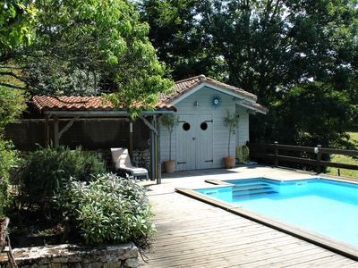 Photo for 3 Bed Holiday Home,  Private Heated Pool, Pays de la Loire, Peaceful Setting
