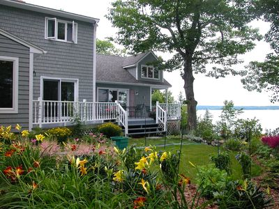 Photo for Oceanfront. Just 10 granite steps from beach. Private. Tranquil. Near Acadia.