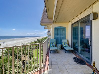 Photo for 4001 Turtle Ln -Stunning oceanfront views from - 3 bedroom Sea Pines villa!
